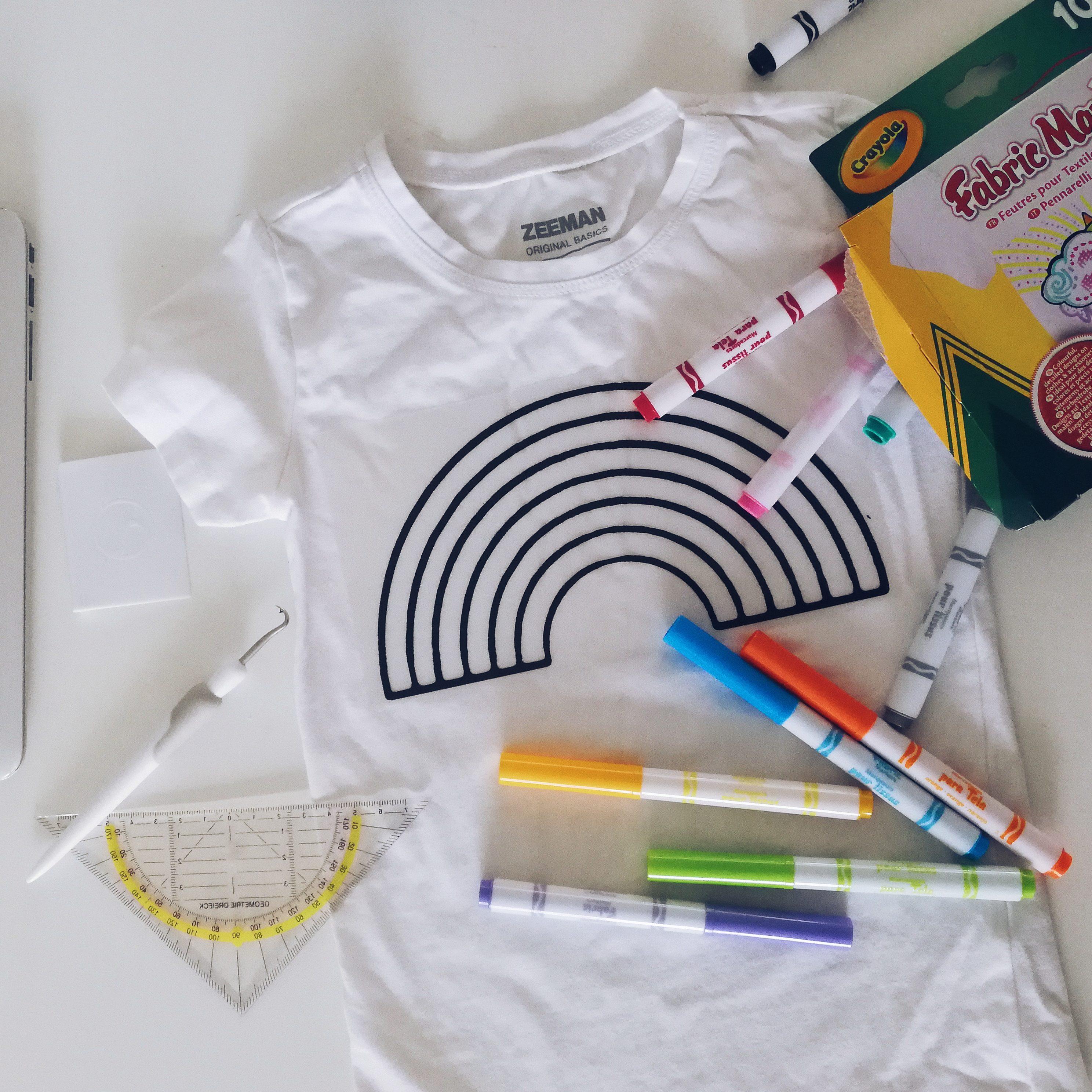 Een kleurplaat t-shirt